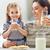 母親 · 子 · 飲料 · ミルク · キッチン · カップ - ストックフォト © choreograph