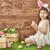 девушки · Bunny · ушки · Христос · воскрес · Cute - Сток-фото © choreograph