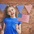 girl with american flag stock photo © choreograph
