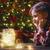 girl is decorating the christmas tree stock photo © choreograph