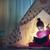 csinos · kislány · elemlámpa · karácsony · idő · baba - stock fotó © choreograph