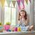ребенка · Живопись · яйца · красивой · счастливая · семья · Пасху - Сток-фото © choreograph