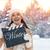 woman holding clapper board stock photo © choreograph