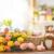 Pasqua · colorato · uova · giallo · tulipani · coniglio - foto d'archivio © choreograph