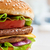 saboroso · hambúrguer · apetitoso · prato · pão - foto stock © choreograph