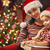karácsony · levél · mikulás · fa · asztal · ajándékok · gyertyák - stock fotó © choreograph
