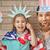 Patriotic holiday. Happy family stock photo © choreograph