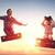 sogni · volo · bambino · giocare · giocattolo · aereo - foto d'archivio © choreograph