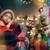 babbo · natale · ragazza · Natale · presenti · sorpreso · rosso - foto d'archivio © choreograph