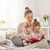 mère · lecture · livre · heureux · affectueux · famille - photo stock © choreograph