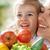 sağlıklı · beslenme · gıda · mutlu · aile · taze · sebze · kız · doğa - stok fotoğraf © choreograph