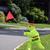 vertragen · voetganger · teken · Geel · weg · man - stockfoto © chrisbradshaw