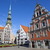 house of the blackheads and st peters church in riga stock photo © chrisdorney