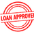 loan approved rubber stamp stock photo © chrisdorney