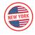 Нью-Йорк · путешествия · штампа · изолированный · белый · синий - Сток-фото © chrisdorney