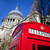 red telephone box outside st pauls cathedral in london stock photo © chrisdorney