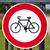 verkeersbord · fietsen · weg · Blauw · verkeer - stockfoto © chrisdorney