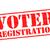 elecciones · rojo · blanco · botón · etiqueta - foto stock © chrisdorney