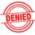 denied rubber stamp stock photo © chrisdorney
