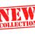 új · gyűjtemény · felirat · piros · pecsét · izolált - stock fotó © chrisdorney