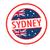 ausztrál · VISA · bevándorlás · bélyeg · útlevél · kék - stock fotó © chrisdorney