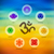 chakra icon set on colorful blur background stock photo © cienpies