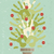 陽気な · クリスマス · 松 · 手 · カード · 多様 - ストックフォト © cienpies