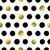 seamless pattern with hand drawn gold circles stock photo © cienpies