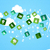 cloud splash eco friendly icons stock photo © cienpies