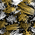 retro 80s 90s scribble doodle pattern gold fancy stock photo © cienpies