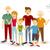 Happy family people flat illustration stock photo © cienpies