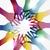 diversiteit · handen · cirkel · creatieve · geïsoleerd - stockfoto © cienpies