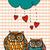 coruja · amor · valentine · dia · corujas - foto stock © cienpies