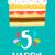 С · Днем · Рождения · год · плакат · цвета · пять - Сток-фото © cienpies