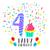 С · Днем · Рождения · карт · 24 · двадцать · четыре · год - Сток-фото © cienpies