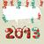 2013 · happy · new · year · kart · 3D · tebrik · kartı · tüm - stok fotoğraf © cienpies