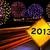 Новый · год · шоссе · знак · зеленый · облаке · вечеринка · улице - Сток-фото © cienpies