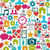social media network icons seamless pattern background eps10 fi stock photo © cienpies