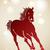piros · kínai · új · év · ló · 2014 · csillagok · körök - stock fotó © cienpies
