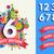 gelukkige · verjaardag · leeftijd · aantal · kaart · sjabloon · ingesteld - stockfoto © cienpies