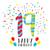 Alles · Gute · zum · Geburtstag · modernen · Vektor · farbenreich · Illustration · blau - stock foto © cienpies