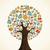 réseau · social · arbre · médias · icônes - photo stock © cienpies