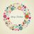joyeux · Noël · amour · couronne · carte · de · vœux - photo stock © cienpies