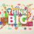 think big quote poster design stock photo © cienpies
