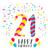 happy birthday for 21 year party invitation card stock photo © cienpies