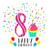 Alles · Gute · zum · Geburtstag · modernen · Vektor · farbenreich · Illustration · rosa - stock foto © cienpies
