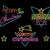 merry christmas vintage set label neon light sign stock photo © cienpies