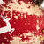 christmas paper cut deer on vintage wood backdrop stock photo © cienpies