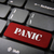 pánico · botón · teclado · rojo · clave - foto stock © cienpies