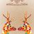 allegro · Natale · colorato · renne · biglietto · d'auguri · vintage - foto d'archivio © cienpies